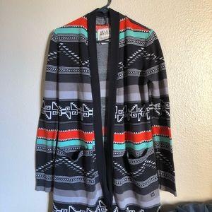 Billabong Colorful Aztec Open Cardigan
